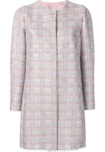 Emporio Armani Long Tweed Coat - Rosa