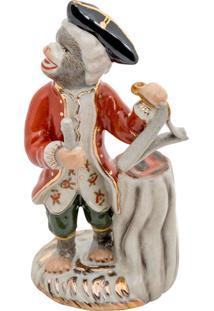 Escultura Decorativa De Porcelana Monkey