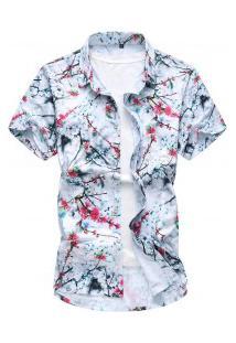 Camisa Masculina Estampado Em Rosas