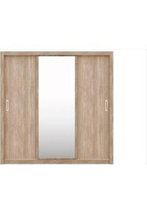 Guarda Roupa 03 Portas De Correr Com Espelho Residence Nogal/Vanilla - Demóbile