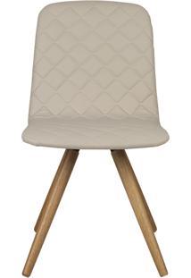Cadeira Vitã³Ria - Couro Bege