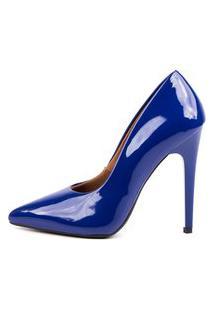 Scarpin Factor Salto Alto - Klein Azul Marinho