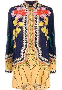 Etro Long Sleeve Floral Pattern Blouse - Azul