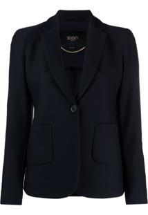 Seventy Blazer Com Abotoamento Simples - Azul