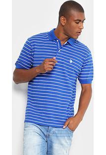Camisa Polo U.S. Polo Assn Piquet Listrada Masculina - Masculino
