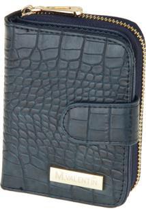 Carteira M. Valentin 7013 Croco Azul Marinho