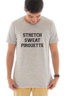 Camiseta Touts Manga Curta Stretch Cinza