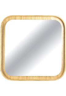 Espelho Martis Quadrado Com Moldura Em Lamina Cinamomo 80 Cm (Larg) - 48858 - Sun House
