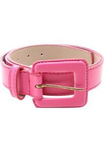 Cinto Birô Básico Quadrado Feminino - Feminino-Pink
