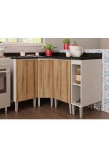 Cozinha Compacta Com Balcão Essence Branco/Desira-Aroma Cozinhas