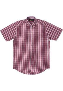 Camisa Xadrez Fast Back Masculina - Masculino-Vermelho