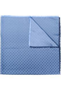 Giorgio Armani Echarpe Com Logo - Azul