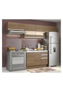 Cozinha Compacta Madesa Marina Rustic/Rustic