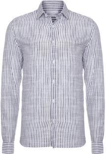 Camisa Masculina Regular Listra Rustica Monte Carl - Preto