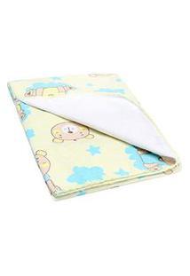 Cobertor Pequeno Bebê Amarelo Ursinho - Bercinho - Tamanho Único - Amarelo