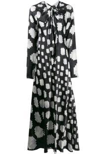 Marni Geometric Pattern Dress - Branco