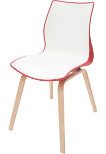 Cadeira Maja Base Madeira Vermelha/Branca - Tramontina