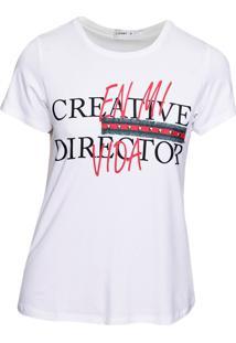 Blusa Loony Estampa Creative Director Off- White