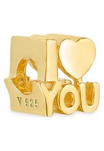 Pingente Life I Love You Banho Ouro Amarelo