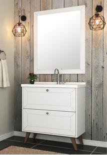 Conjunto Para Banheiro Provenca Branco Bosi - Tricae