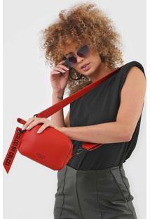 Bolsa Tiracolo Colcci Puxador Lettering Vermelha - Vermelha - Feminino - Dafiti