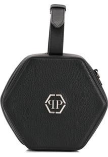 Philipp Plein Bolsa Box Com Logo - Preto