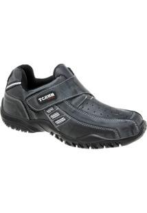 Sapatênis De Couro Tchwm Shoes Com Fechamento Em Velcro - Masculino