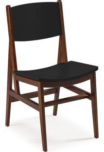 Cadeira Dumon 87 Cm 951 Cacau/Preto - Maxima