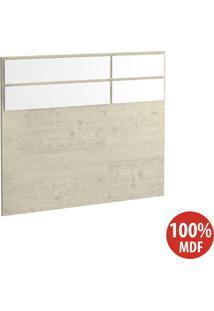 Cabeceira Solteiro 100% Mdf 2297 Marfim Areia/Branco - Foscarini