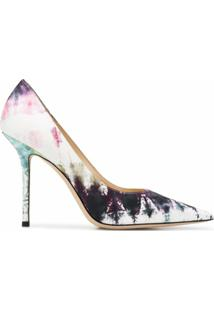 Jimmy Choo Sapato Love Com Estampa Tie Dye E Salto 100Mm - Rosa