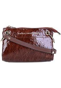 4f6340db1 ... Bolsa Couro Jorge Bischoff Mini Bag Transversal Feminina -  Feminino-Marrom