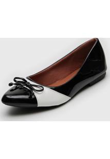 Sapatilha Dafiti Shoes Bicolor Preto/Branco - Preto - Feminino - Sintã©Tico - Dafiti