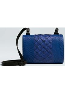 Pirarucu And Salmon Crossbody Clutch-Azul Oceans - Un
