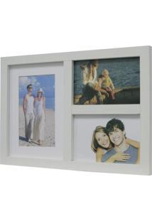 Painel De Fotos Fine 33X23 3 Fotos 10X15 Branco Kapos