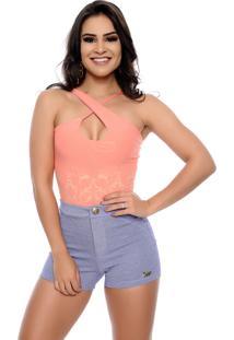 Body Nathalia Freitas Camila Jacquard Coral