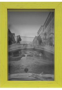 Porta-Retrato Caixa Liso Amarelo 15X21Cm