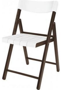Cadeira Potenza Dobravel Tabaco Com Plastico Branco - 20642 Sun House