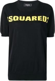 Dsquared2 Blusa De Tricô Com Logo - Preto