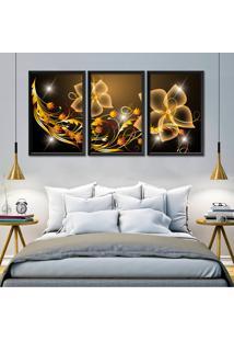 Quadro Flores Digitais Abstrato Moldura Sem Vidro Decorativo Interiores - Oppen House
