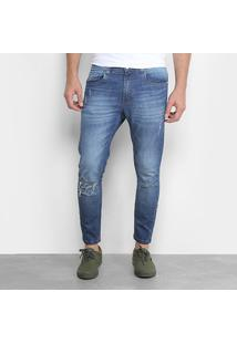 Calça Jeans Cropped Destroyed Handbook Luciano Masculina - Masculino