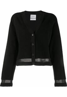 Barrie Cardigan Cropped - Preto