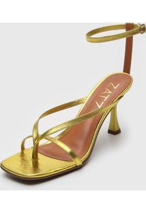 Sandã¡Lia Zatz Tiras Amarela - Amarelo - Feminino - Dafiti