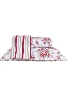 Colcha Ultrassonic King Com Porta Travesseiro Valência