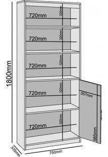 Estante Livreiro Multiuso 2 Portas 2 Prateleira Madri Benetil Móveis