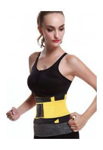 Cinta Modeladora Redutora Slim Para Cintura - Amarela