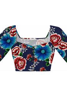 Blusa Cropped Estampa Guadalupe - Lez A Lez