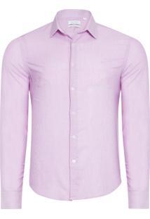 Camisa Masculina Slim Monte Carlo - Rosa