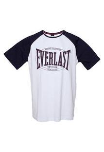 Camiseta Everlast Two Feet Branco/Marinho