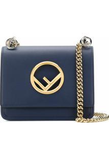 Fendi Bolsa Tiracolo Pequena 'Kan I F' - Azul