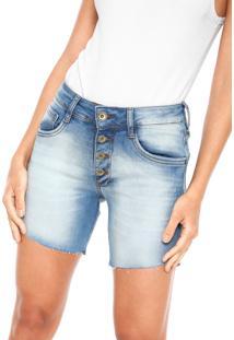 Bermuda Jeans My Favorite Thing(S) Slim Delavê Azul